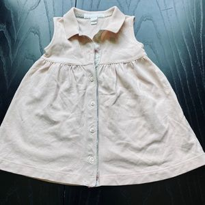 Burberry Sleeveless Button Front Polo Dress, 9M